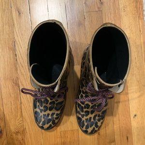 J. Crew Shoes - Jcrew Leopard Rain Boots, Size 9